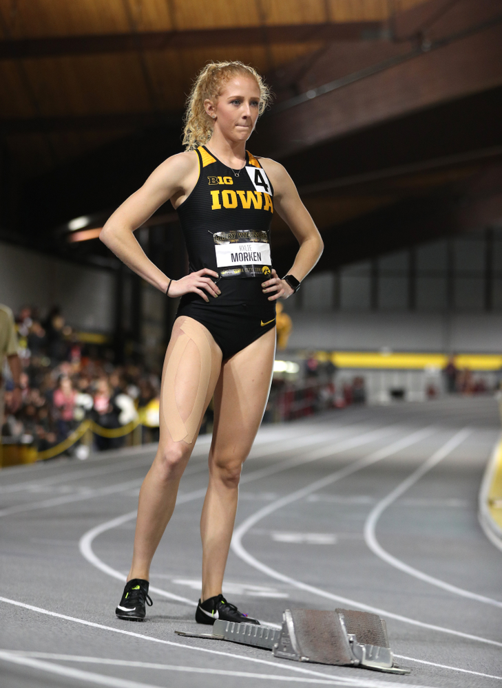 Iowa's Kylie Morken runs the 200-meters during the 2019 Larry Wieczorek Invitational  Friday, January 18, 2019 at the Hawkeye Tennis and Recreation Center. (Brian Ray/hawkeyesports.com)