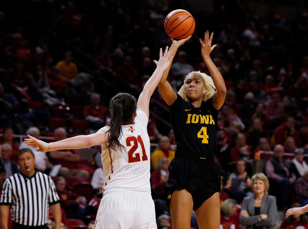 Iowa Hawkeyes forward Chase Coley (4)