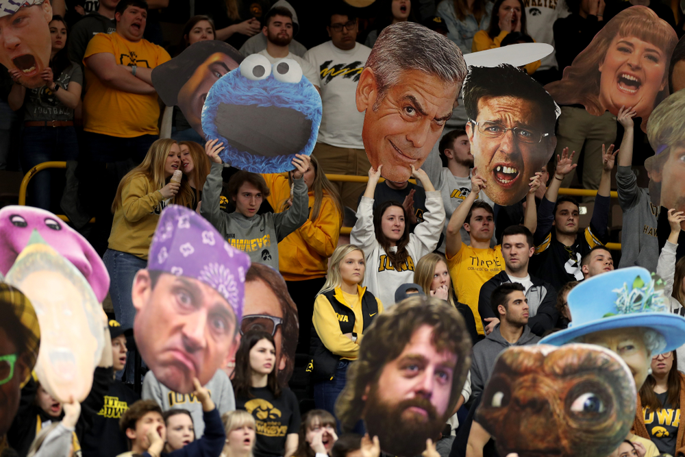 The Hawks Nest against Penn State Saturday, February 29, 2020 at Carver-Hawkeye Arena. (Brian Ray/hawkeyesports.com)