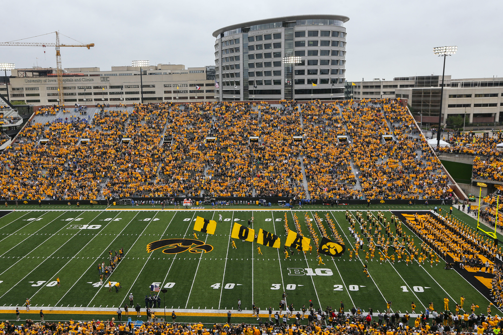 Iowa Hawkeyes against Middle Tennessee Saturday, September 28, 2019 at Kinnick Stadium. (Lily Smith/hawkeyesports.com)