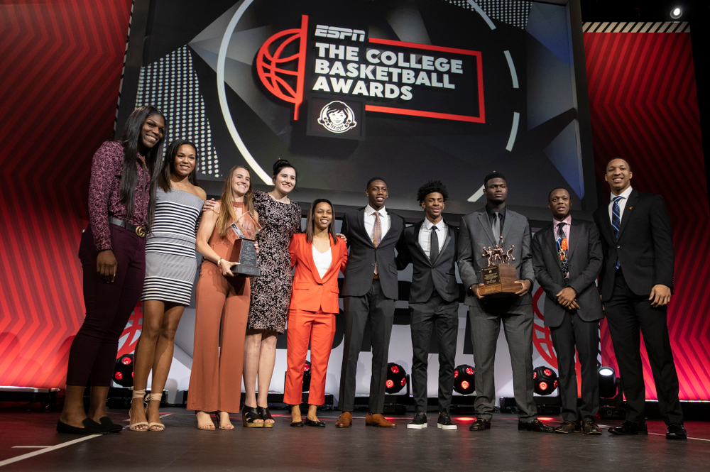 The ESPN College Basketball Awards honorees following the show Friday, April 12, 2019 at The Novo at LA Live.  (Brian Ray/hawkeyesports.com)