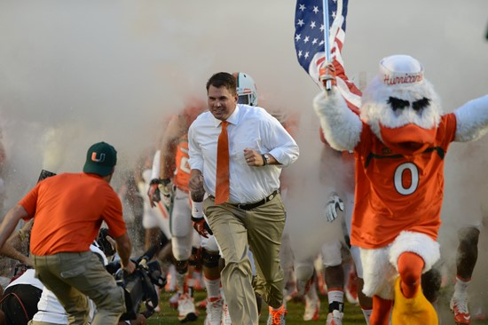 Al Golden and the 14th ranked University of Miami Hurricanes will play the Georgia Tech Yellow Jackets at Sun Life Stadium on October 5, 2013.  Photo...