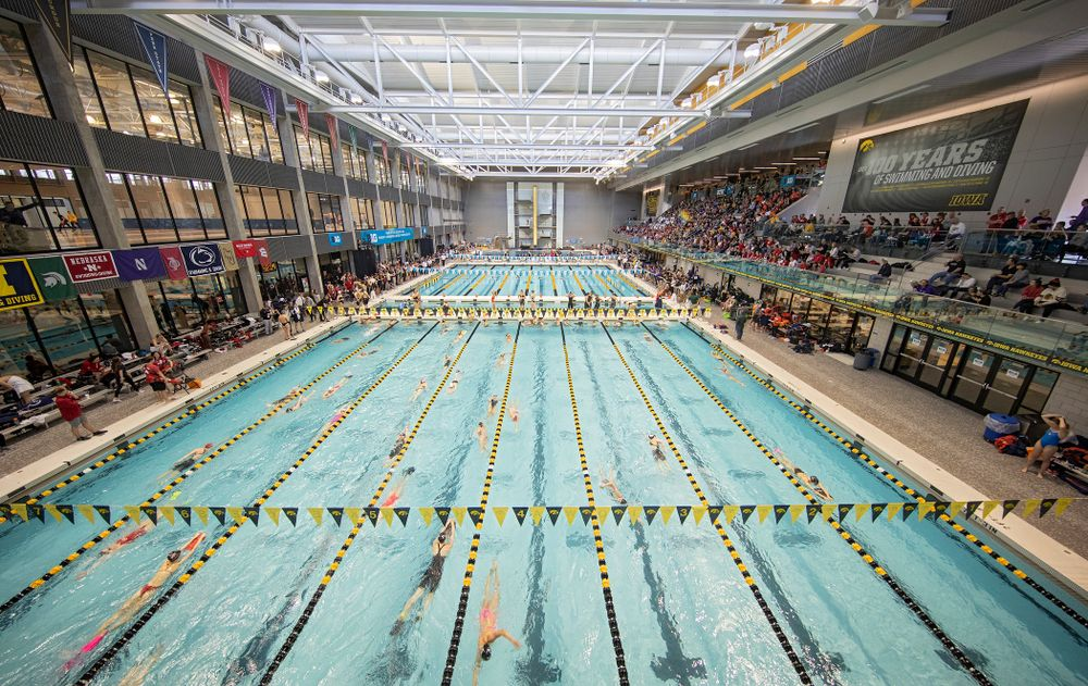 The women's 200 yard breaststroke preliminary event during the 2020 Women's Big Ten Swimming and Diving Championships at the Campus Recreation and Wellness Center in Iowa City on Saturday, February 22, 2020. (Stephen Mally/hawkeyesports.com)