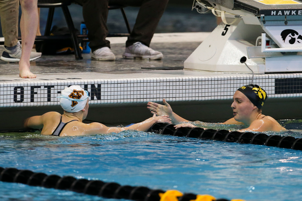 Iowa's Emilia Sansome during Iowa swim and dive vs Minnesota on Saturday, October 26, 2019 at the Campus Wellness and Recreation Center. (Lily Smith/hawkeyesports.com)
