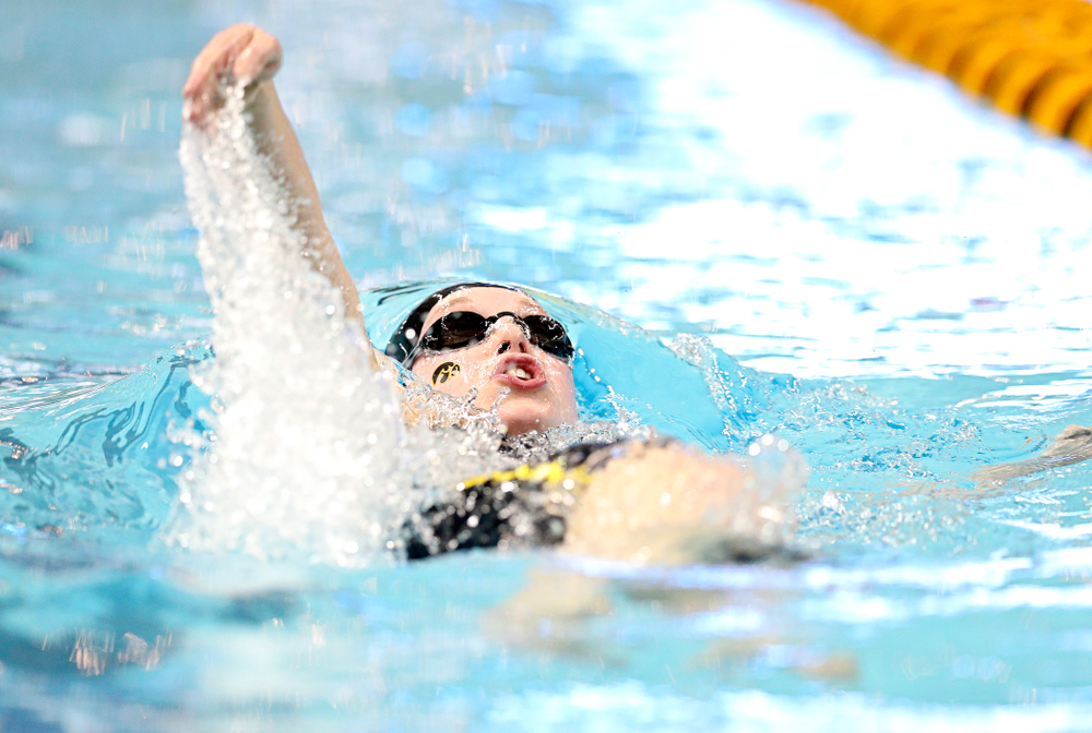 Iowa's Kelsey Drake swims the women's 200 yard individual medley C finals event during the 2020 Women's Big Ten Swimming and Diving Championships at the Campus Recreation and Wellness Center in Iowa City on Thursday, February 20, 2020. (Stephen Mally/hawkeyesports.com)