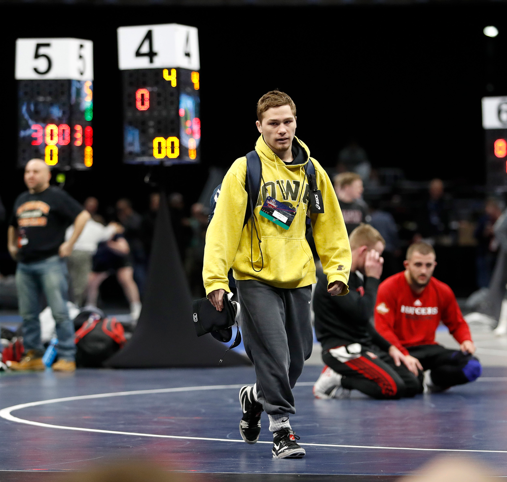 Spencer Lee Championships on March 14, 2018, in Quicken Loans Arena in Cleveland. (Darren Miller/hawkeyesports.com)