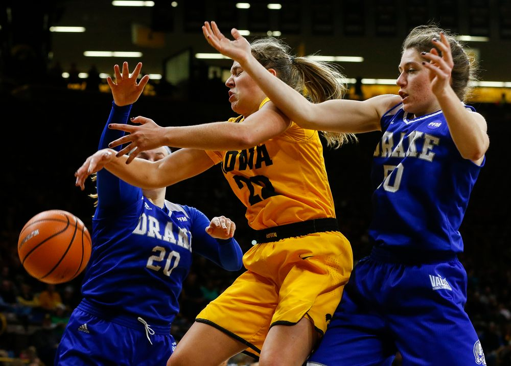 Iowa Hawkeyes guard Kathleen Doyle (22)