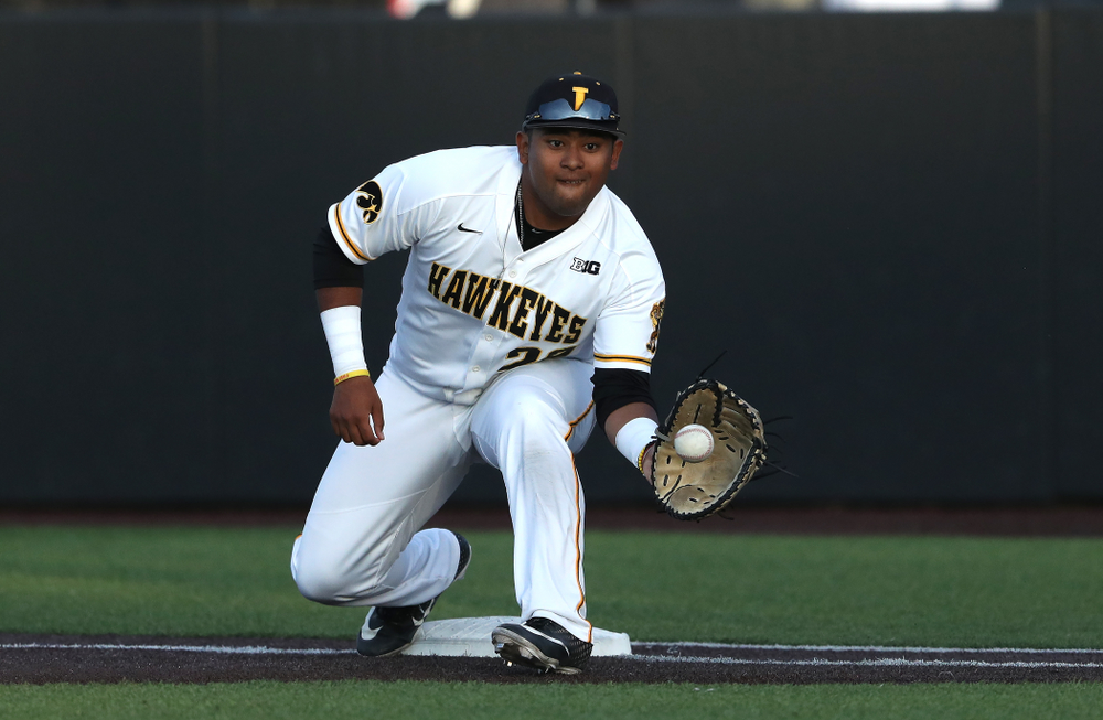 Iowa Hawkeyes Izaya Fullard (20) during game one against UC Irvine Friday, May 3, 2019 at Duane Banks Field. (Brian Ray/hawkeyesports.com)