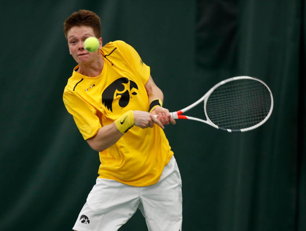 Iowa's Jason Kerst against Creighton