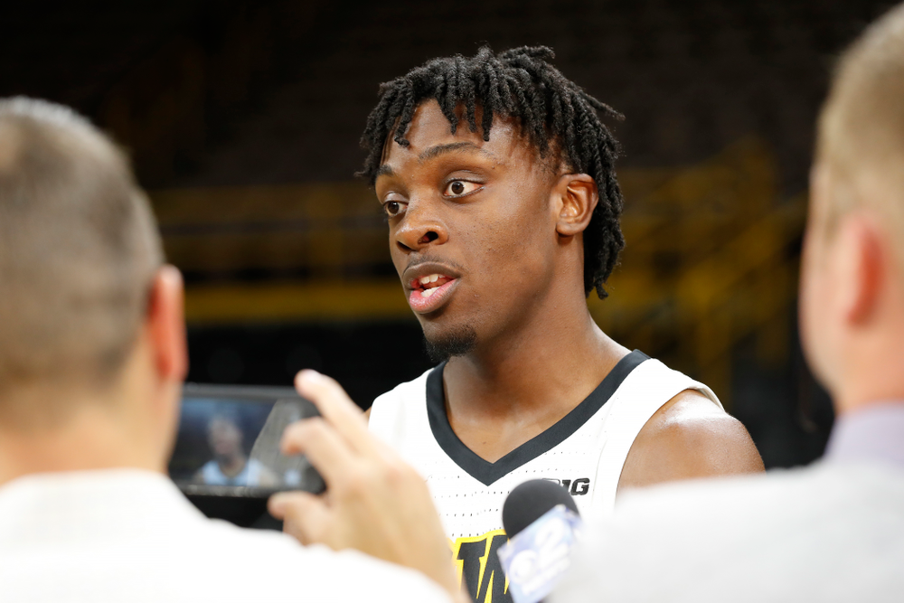 Iowa Hawkeyes forward Tyler Cook (25) during the team's annual media day Monday, October 8, 2018 at Carver-Hawkeye Arena. (Brian Ray/hawkeyesports.com)