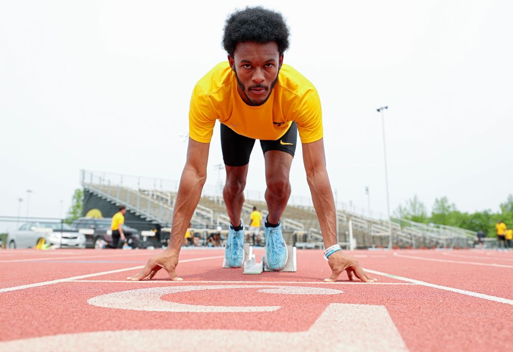 Iowa's Mar'yea Harris at Francis X. Cretzmeyer Track in Iowa City on Friday, May 31, 2019. (Stephen Mally/hawkeyesports.com)