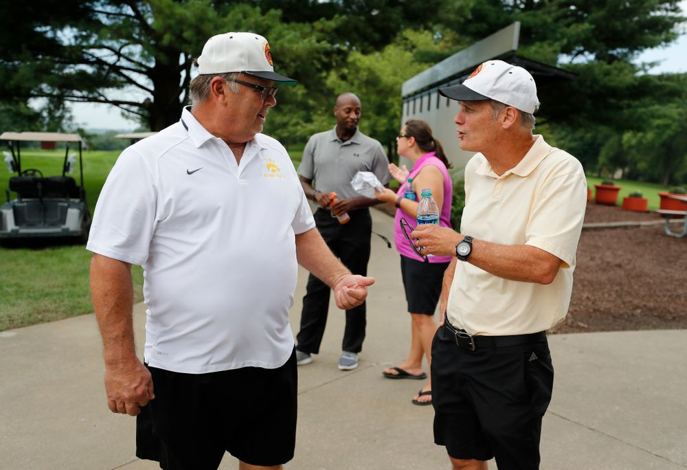 Mike Street and Gary Close during the 2018 Chris Street Memorial Golf Outing Monday, August 27, 2018 at Finkbine Golf Course. (Brian Ray/hawkeyesports.com)