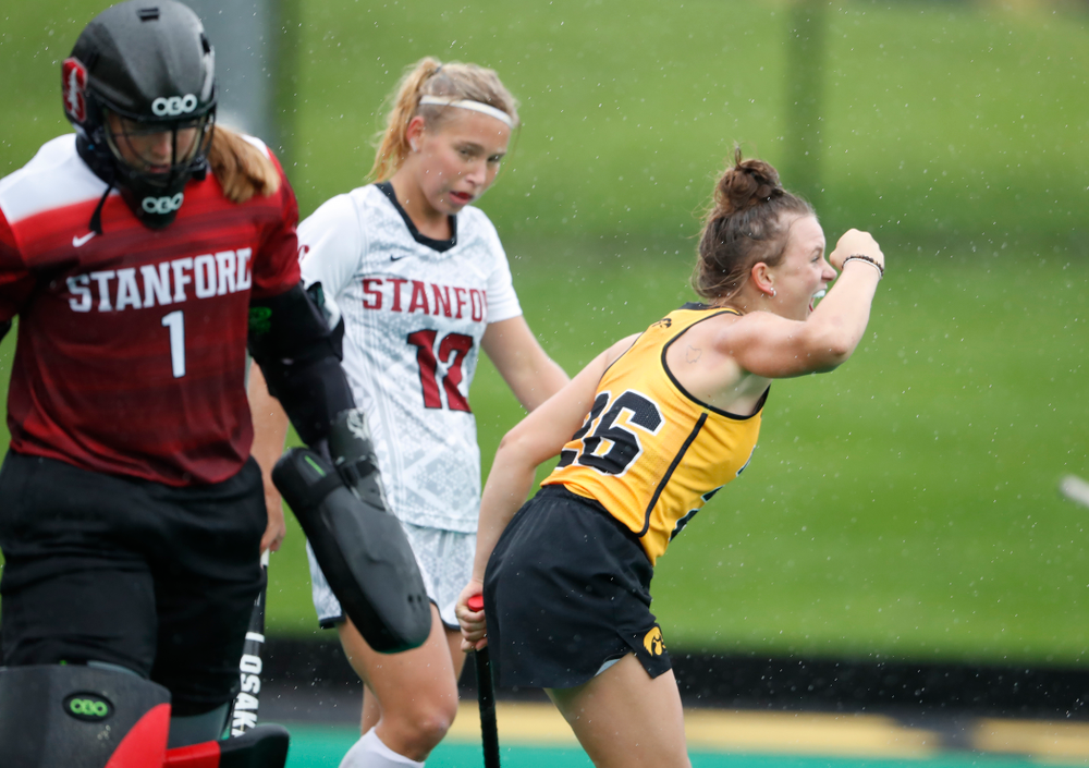 Iowa Hawkeyes Maddy Murphy (26) scores against Stanford Sunday, October 7, 2018 at Grant Field. (Brian Ray/hawkeyesports.com)