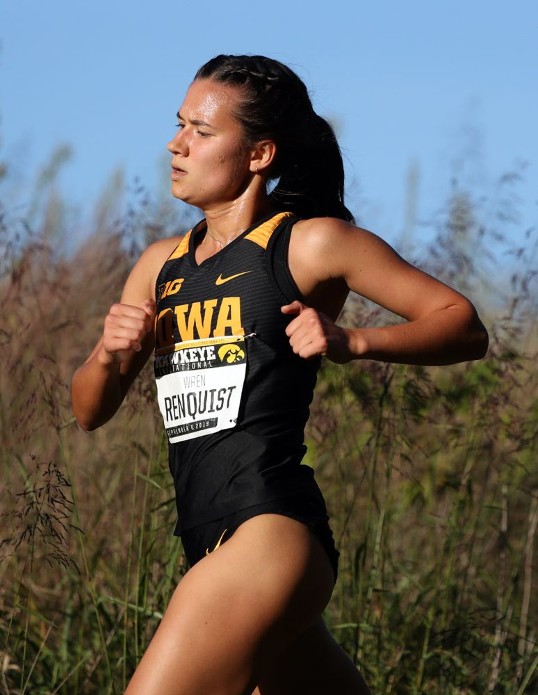 IowaÕs Wren Renquist runs in the 2019 Hawkeye Invitational Friday, September 6, 2019 at the Ashton Cross Country Course. (Brian Ray/hawkeyesports.com)