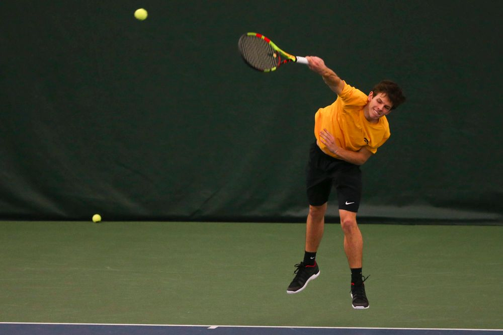 Iowa's  at a tennis match vs Drake  Friday, March 8, 2019 at the Hawkeye Tennis and Recreation Complex. (Lily Smith/hawkeyesports.com)
