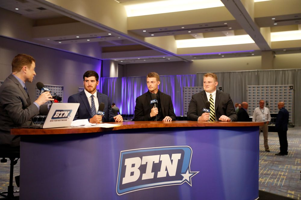 Josey Jewell, Matt VandeBerg, Sean Welsh on the BTN set.