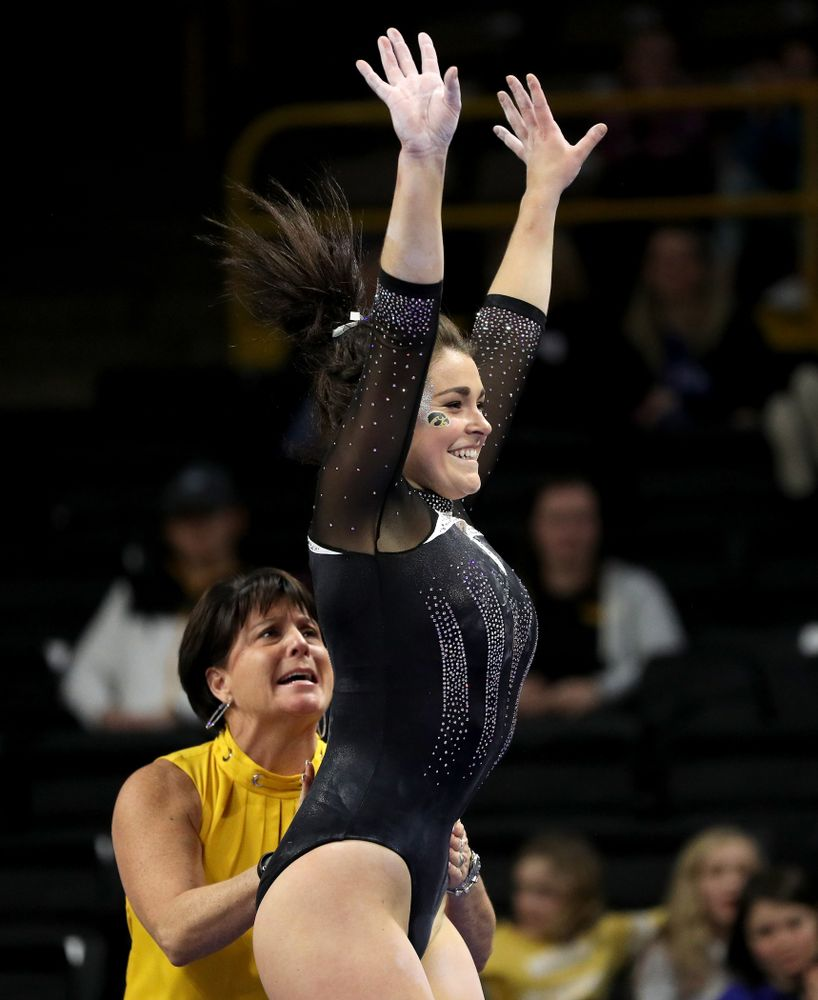 Iowa's Erin Castle competes on the beam against Michigan State Saturday, February 1, 2020 at Carver-Hawkeye Arena. (Brian Ray/hawkeyesports.com)