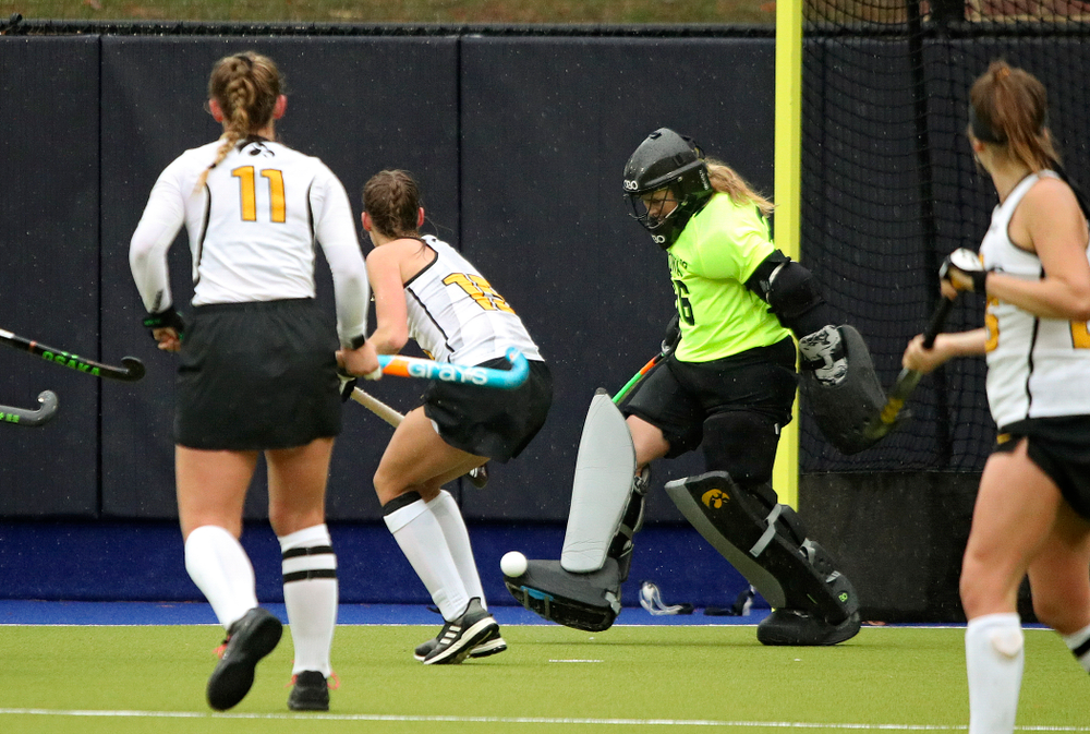 Iowa's Leslie Speight (96) kicks the ball away during the second quarter of their NCAA Tournament First Round match against Duke at Karen Shelton Stadium in Chapel Hill, N.C. on Friday, Nov 15, 2019. (Stephen Mally/hawkeyesports.com)