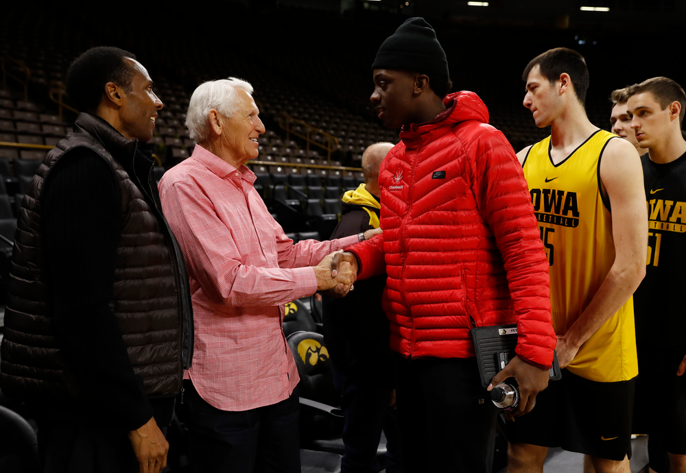 Lute Olson, Ronnie Lester, and Tyler Cook