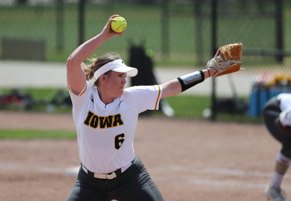 Iowa Hawkeyes Erin Riding (6) against the Ohio State Buckeyes on senior day Sunday, May 5, 2019 at Pearl Field. (Brian Ray/hawkeyesports.com)