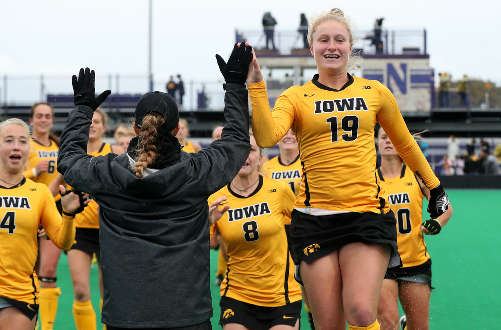 Iowa Hawkeyes Ryley Miller (19) against Maryland during the championship game of the Big Ten Tournament Sunday, November 4, 2018 at Lakeside Field in Evanston, Ill. (Brian Ray/hawkeyesports.com)