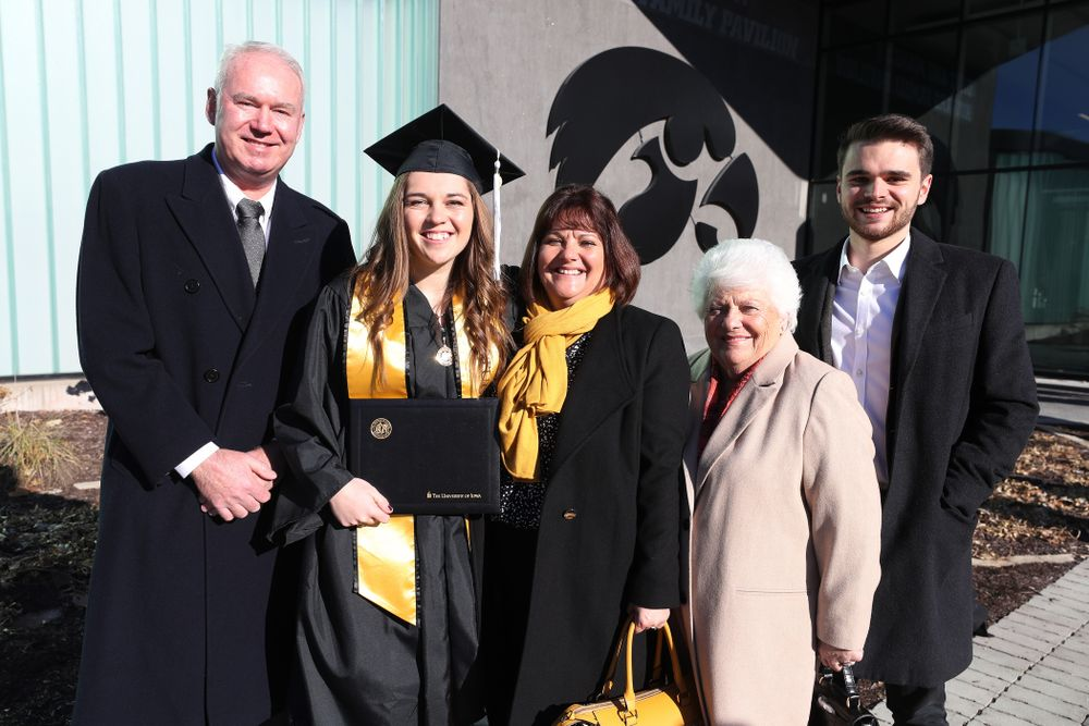 Iowa Women's Tennis' Zoe Douglas during the Fall Commencement Ceremony  Saturday, December 15, 2018 at Carver-Hawkeye Arena. (Brian Ray/hawkeyesports.com)