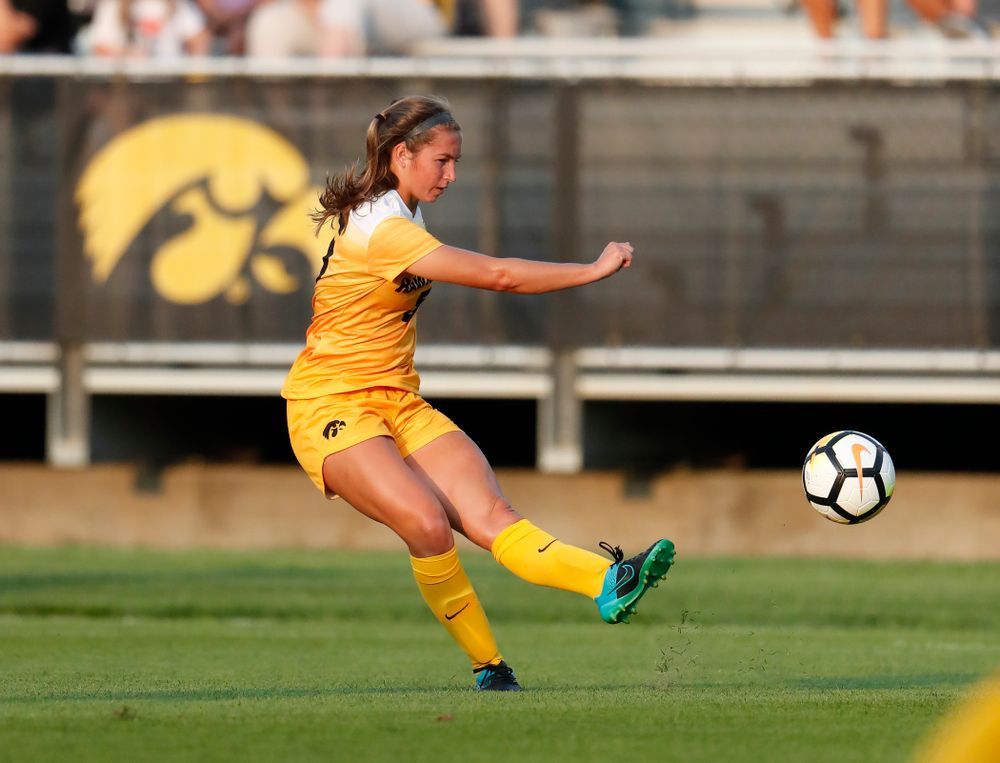 Iowa Hawkeyes Riley Whitaker (5) against the Missouri Tigers Friday, August 17, 2018 at the Iowa Soccer Complex. (Brian Ray/hawkeyesports.com)
