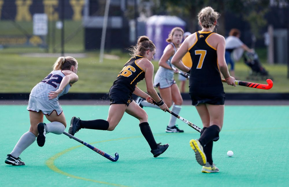 Iowa Hawkeyes Maddy Murphy (26) scores against the Penn Quakers Friday, September 14, 2018 at Grant Field. (Brian Ray/hawkeyesports.com)