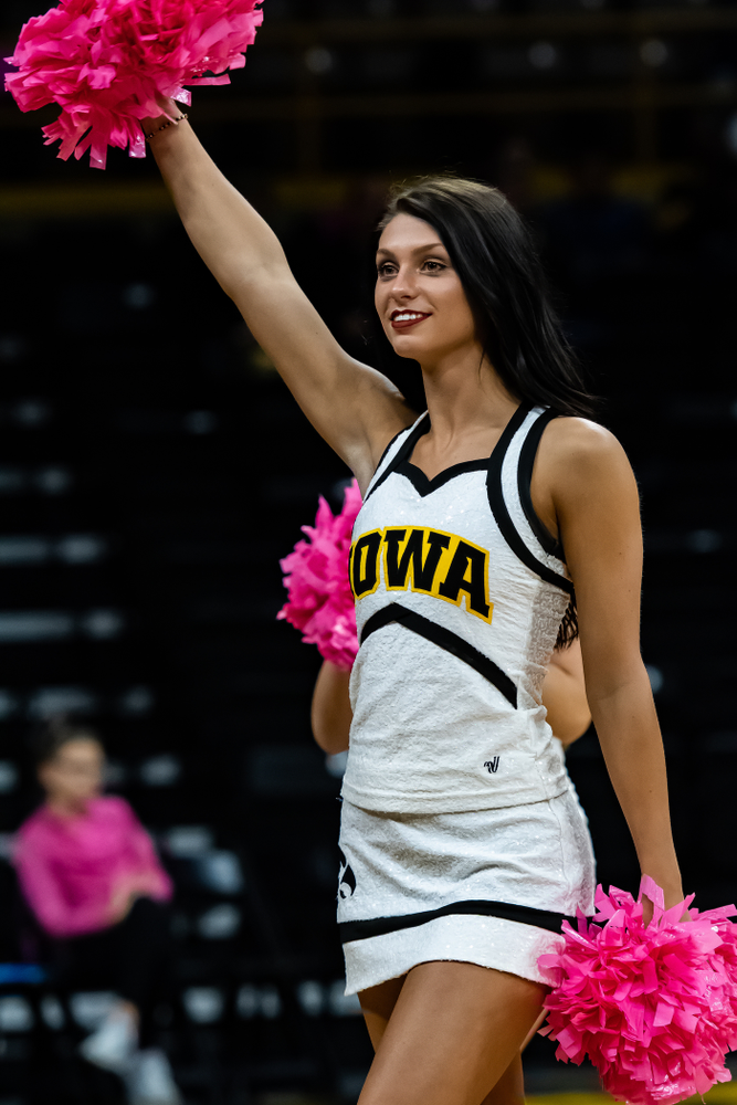 The Iowa Dance Team against the Wisconsin Badgers Saturday, October 6, 2018 at Carver-Hawkeye Arena. (Clem Messerli/Iowa Sports Pictures)