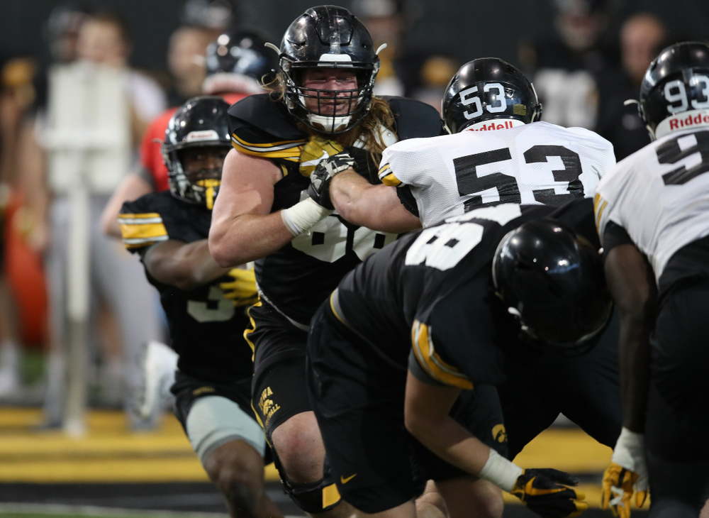 Iowa Hawkeyes offensive lineman Landan Paulsen (68) during preparation for the 2019 Outback Bowl Monday, December 17, 2018 at the Hansen Football Performance Center. (Brian Ray/hawkeyesports.com)