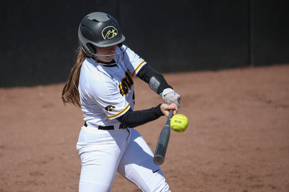 Iowa infielder Sydney Owens (5) at game 3 vs Northwestern on Sunday, March 31, 2019 at Bob Pearl Field. (Lily Smith/hawkeyesports.com)