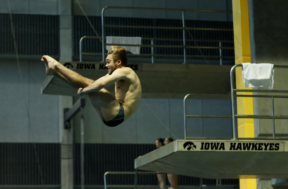 Saturday, January 13, 2018 (Brian Ray/hawkeyesports.com)Iowa's Matt Mauser competes on the one meter springboard