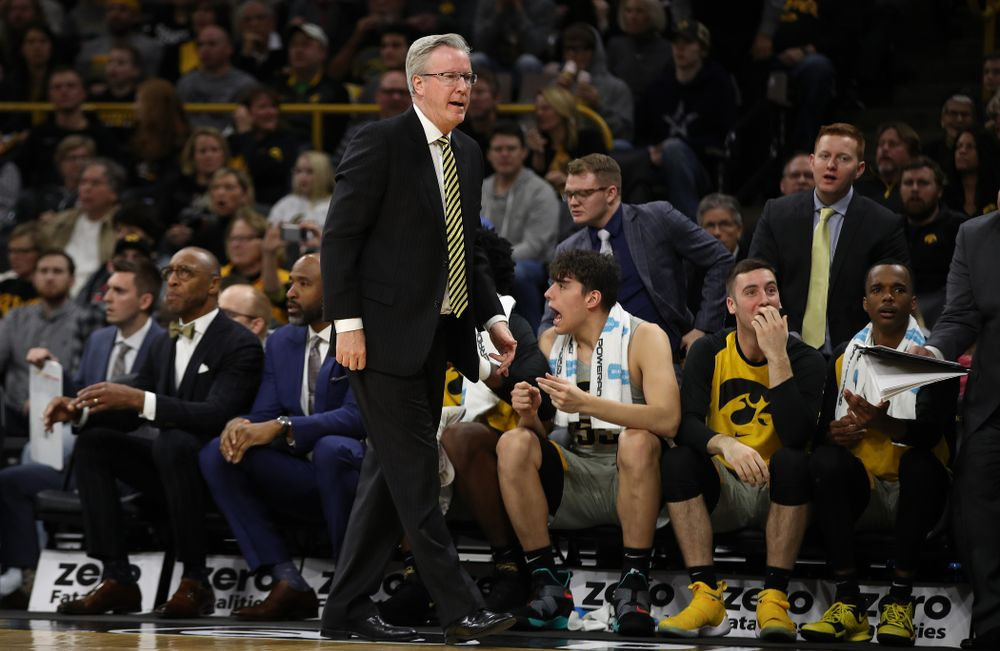 Iowa Hawkeyes head coach Fran McCaffery against the Nebraska Cornhuskers Sunday, January 6, 2019 at Carver-Hawkeye Arena. (Brian Ray/hawkeyesports.com)