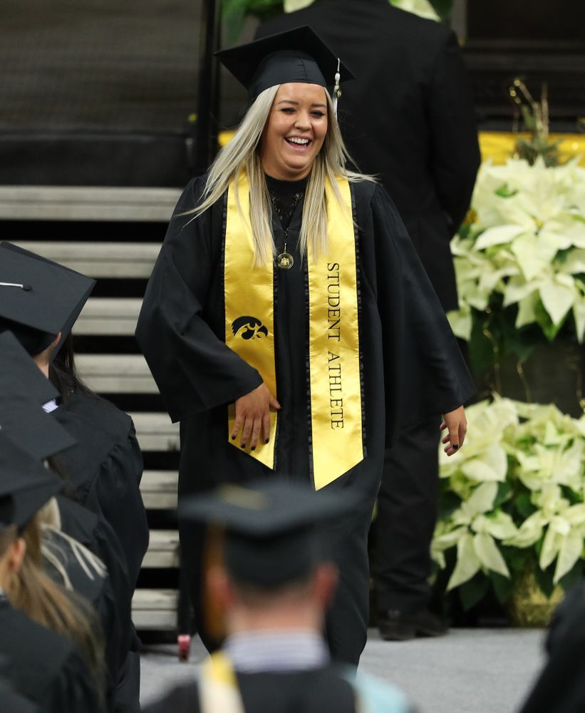 Iowa Soccer's Makenzie Ihle during the Fall Commencement Ceremony  Saturday, December 15, 2018 at Carver-Hawkeye Arena. (Brian Ray/hawkeyesports.com)
