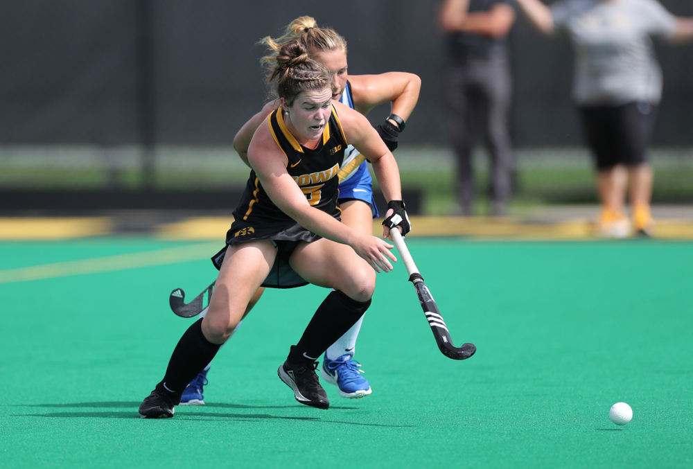 Iowa Hawkeyes Meghan Conroy (5) against the Duke Blue Devils Sunday, September 15, 2019 at Grant Field.  (Brian Ray/hawkeyesports.com)