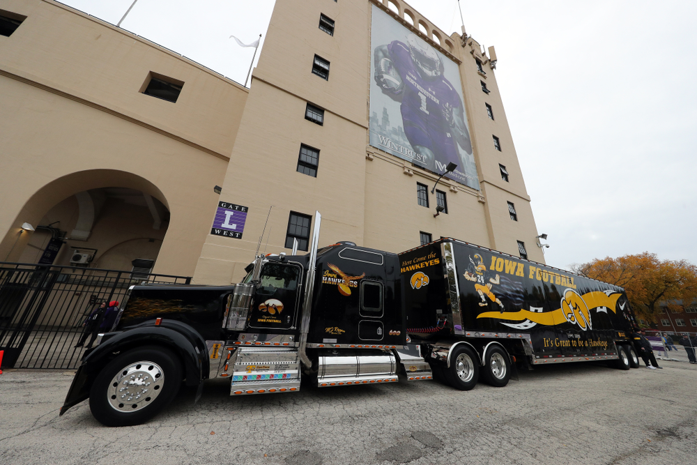 The Hawk Truck against the Northwestern Wildcats Saturday, October 26, 2019 at Ryan Field in Evanston, Ill. (Brian Ray/hawkeyesports.com)
