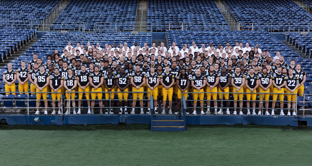 The 2019 Hawkeye Football Holiday Bowl Team Wednesday, December 25, 2019 at SDCCU Stadium in San Diego. (Brian Ray/hawkeyesports.com)