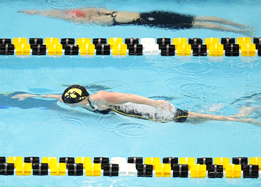 Iowa's Kennedy Gilbertson swims the women's 50 yard freestyle preliminary event during the 2020 Women's Big Ten Swimming and Diving Championships at the Campus Recreation and Wellness Center in Iowa City on Thursday, February 20, 2020. (Stephen Mally/hawkeyesports.com)