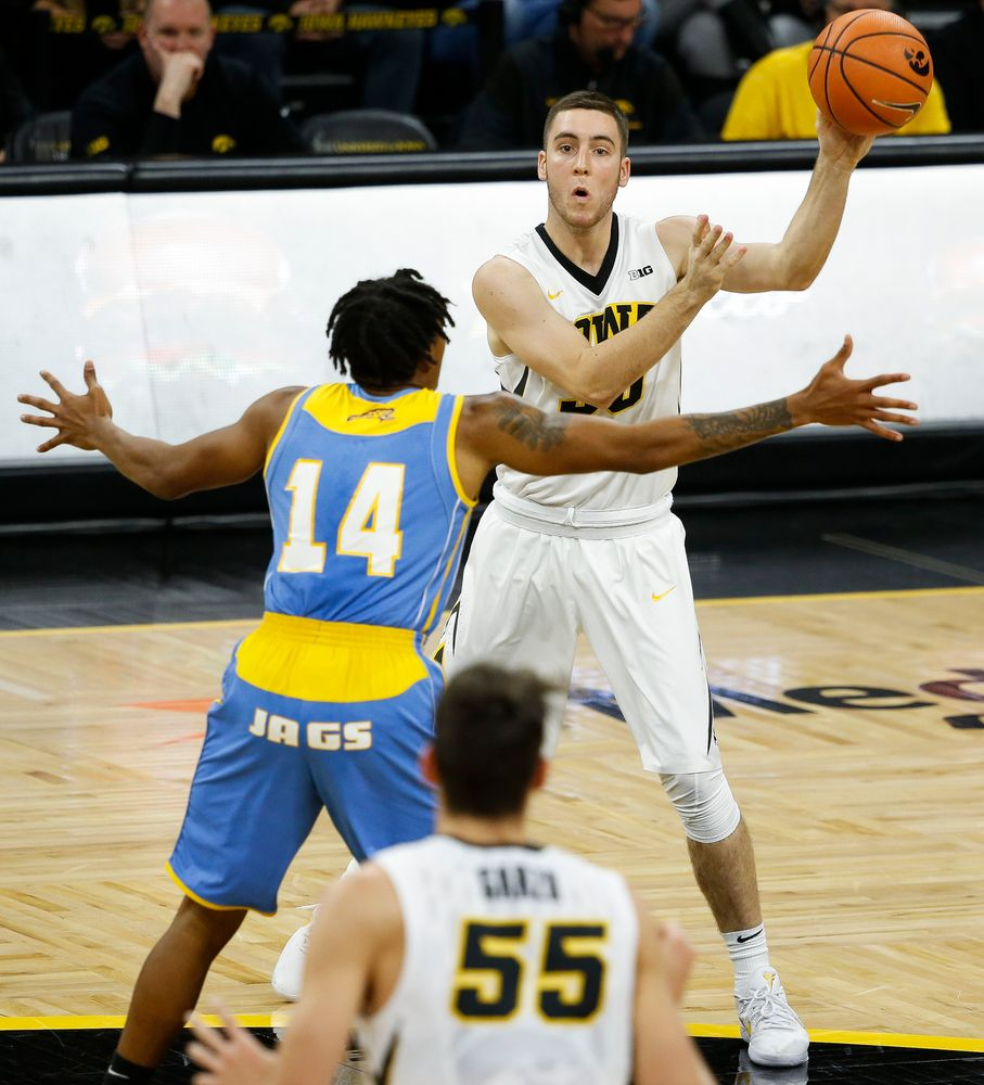 Iowa Hawkeyes guard Connor McCaffery (30)