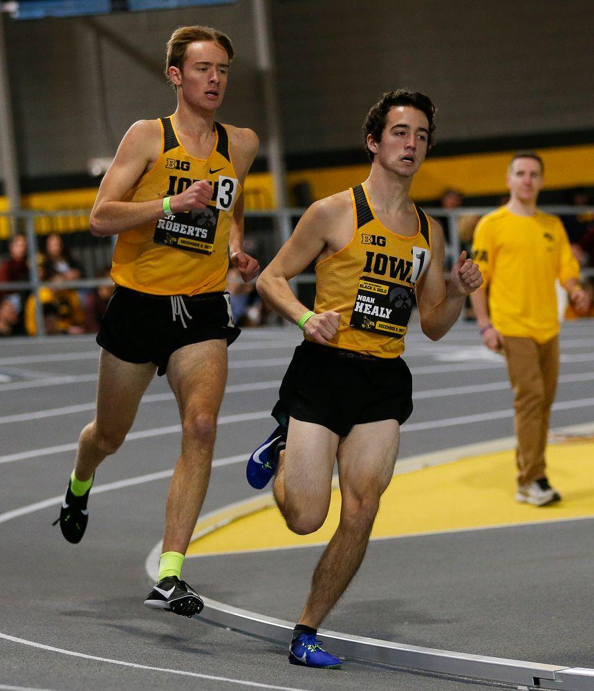 Iowa's Jeff Roberts and Noah Healy