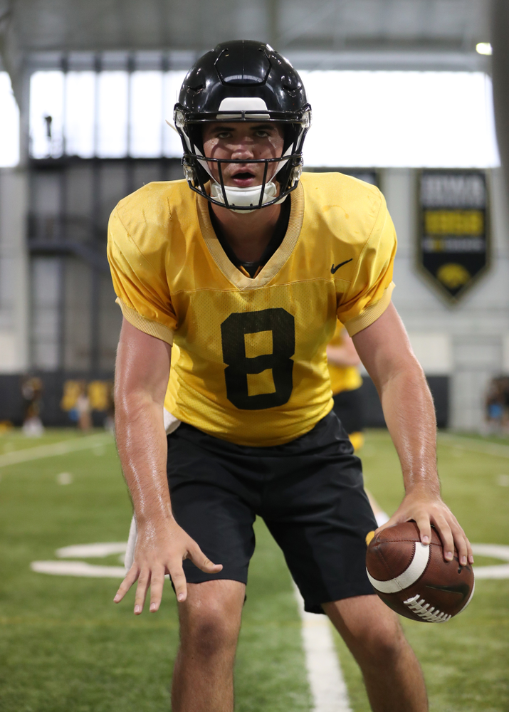 Iowa Hawkeyes quarterback Alex Padilla (8)
