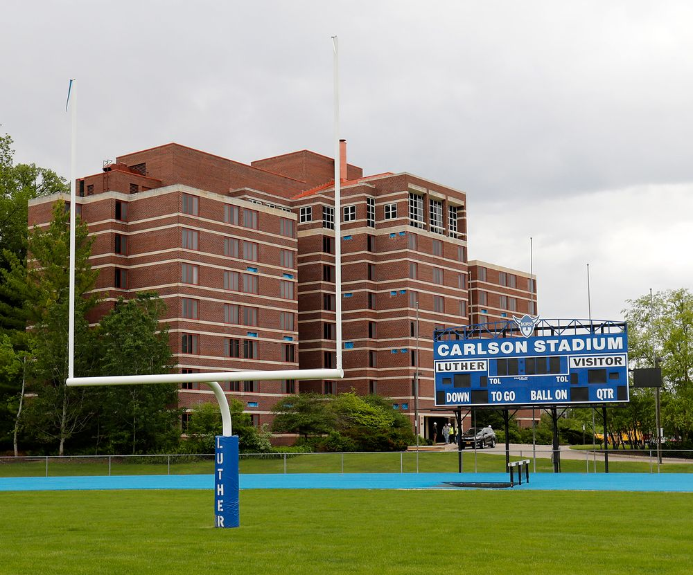 Carlson Stadium on the campus of Luther College