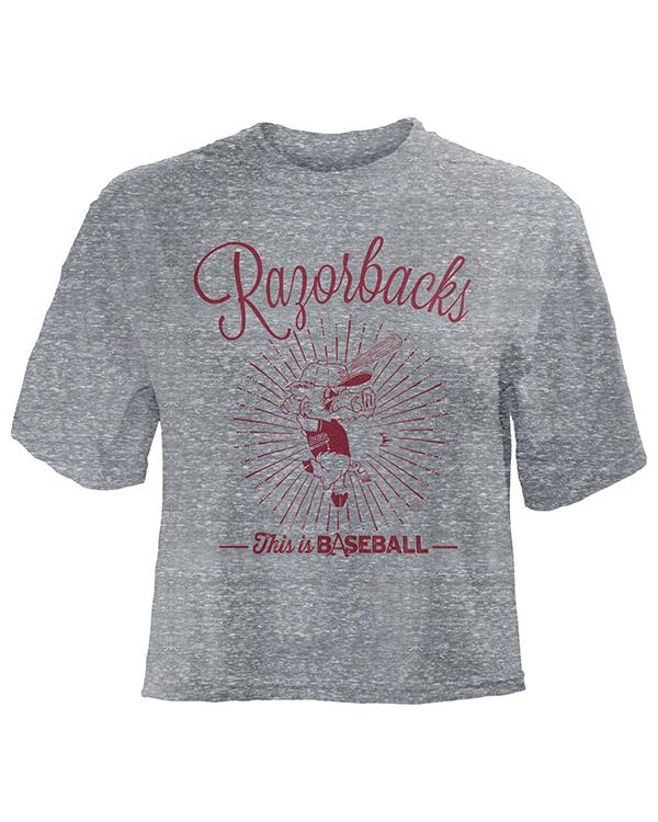 Mens Short Sleeve Tshirt Original Printed Casual Crew Neck Tee Tops in Red Grey