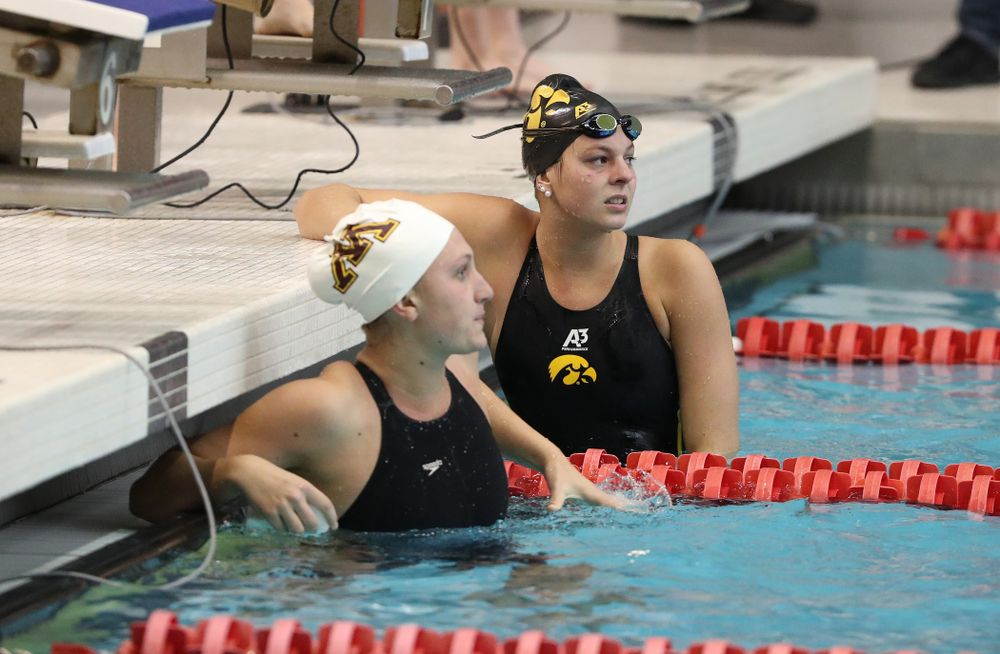 Iowa's Morgan Grout swims the 50-yard freestyle during the 2019 Women's Big Ten Swimming and Diving meet Thursday, February 21, 2019 in Bloomington, Indiana. (Brian Ray/hawkeyesports.com)