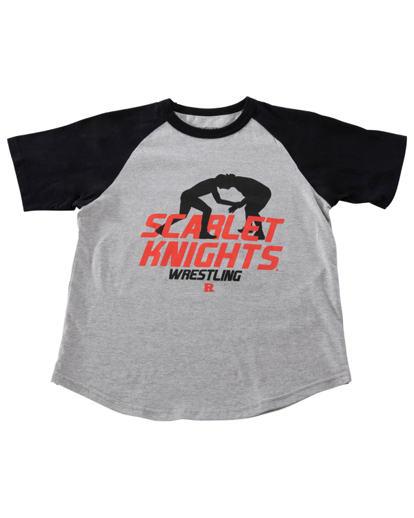 Rutgers Scarlet Knights Youth Color Block Raglan Wrestling T Shirt Rutgers Apparel Rutgers University Gear Rutgers Merchandise Rutgers Clothing Official Rutgers Team Shop