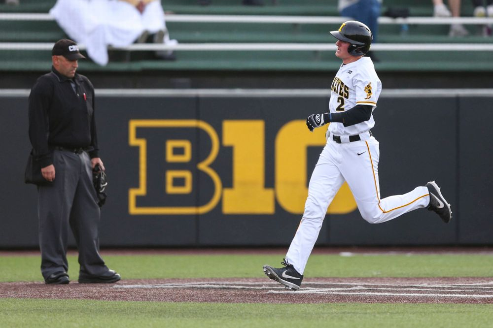 Iowa infielder Brendan Sher  at baseball vs Milwaukee on Tuesday, April 23, 2019 at Duane Banks Field. (Lily Smith/hawkeyesports.com)