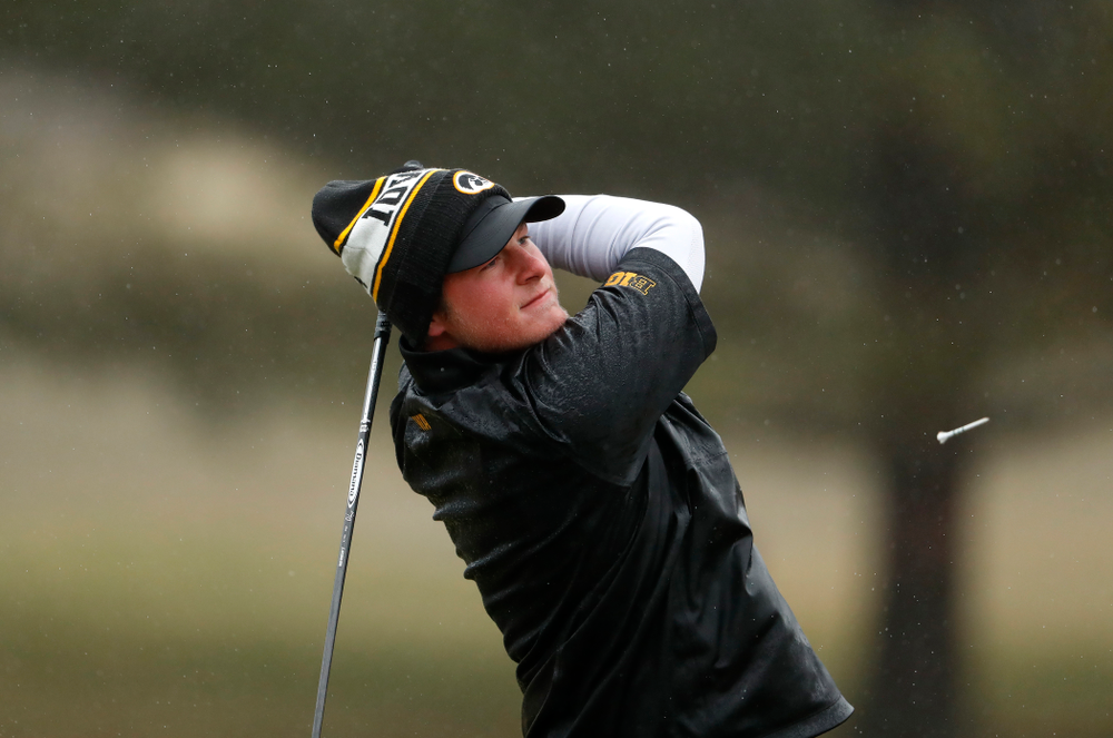 Iowa's Alex Schaake during day two of the 2018 Hawkeye Invitational Friday, April 13, 2018 at Finkbine Golf Course. (Brian Ray/hawkeyesports.com)