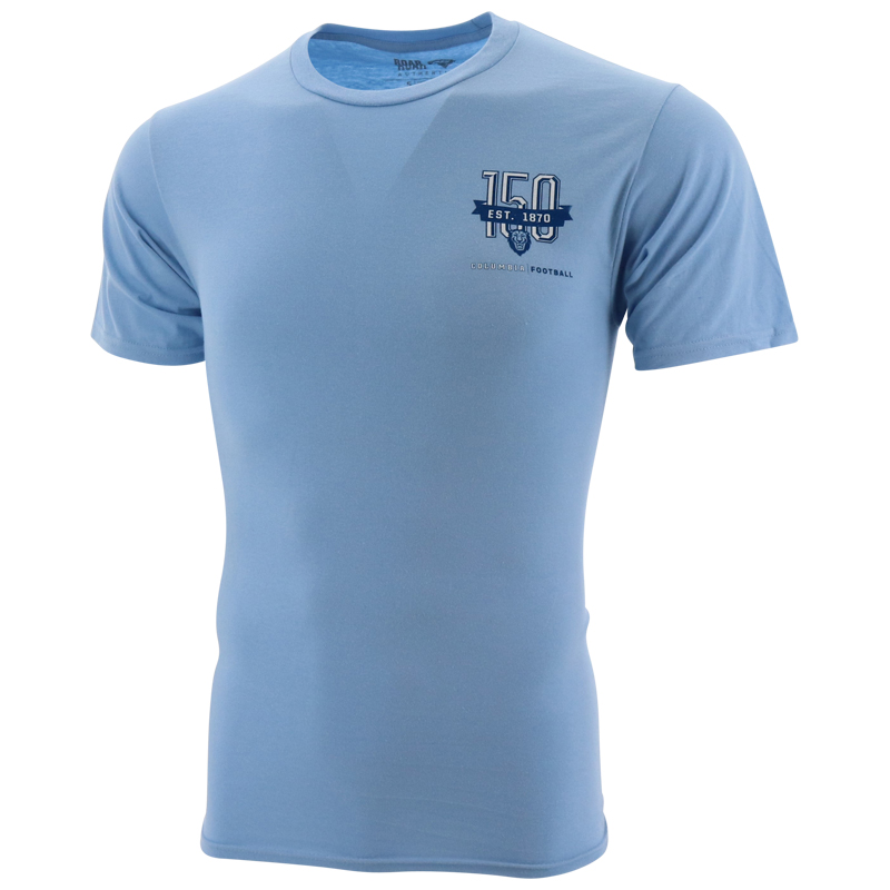 Columbia Lions Distressed 150th Anniversary Logo Left Chest Unisex Short Sleeve T Shirt The Columbia Lions Fan Shop Official Online Store Of The Columbia Lions