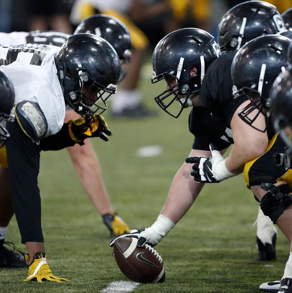 -- University of Iowa spring football practice No. 6 on March 31, 2018, in Iowa City, Iowa. (Darren Miller/hawkeyesports.com)