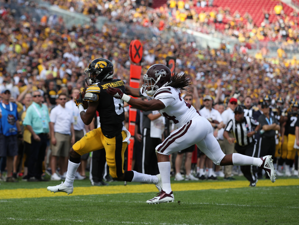 Iowa Hawkeyes wide receiver Ihmir Smith-Marsette (6) during their Outback Bowl Tuesday, January 1, 2019 at Raymond James Stadium in Tampa, FL. (Brian Ray/hawkeyesports.com)